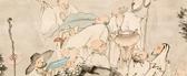 Sixteen Arharts, Tanomura Chokunyū (1814–1907)