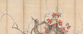 Flowering Plum and Camellia, Suzuki Kiitsu (1796–1858)