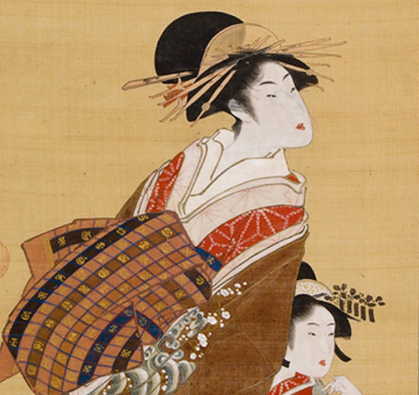 Courtesan with Attendant, Utagawa Toyokuni I (1769–1825)